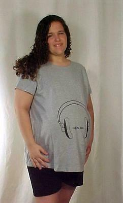 Plus size maternity Rock the Belly  tee T-shirt top NWT 1X 2X 3X