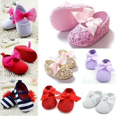 Baby Girl Princess Flower Shoes Kid Toddler Soft Sole Crib Shoes Prewalker 0-18M