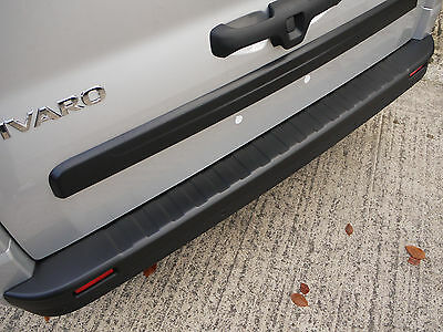 RGM Rear Black Tailored Bumper Sill Protector Guard for Renault Trafic (2014 on)