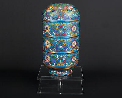 China 20. Jh. A Chinese Cloisonne Enamel 'Food' Container - Cinese Chinois Chino