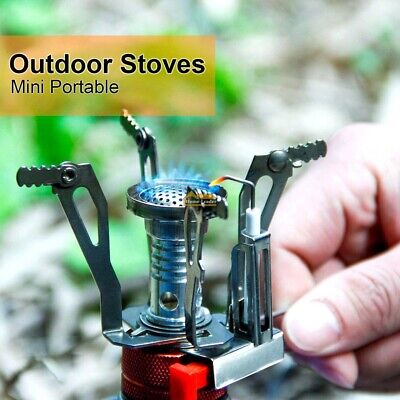 Mini Portable Pocket Camping Gas Stove Outdoor Cooking Folding Burner With Case
