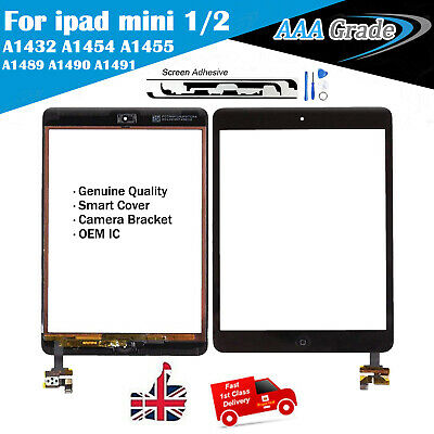 Black For iPad mini 2 A1489 Touch Screen Digitizer Replacement + IC &Home Button