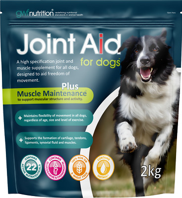 Joint Aid for Dogs 2KG Arthritis, Mobility, GLUCOSAMINE Omega 3 Oatinol Vitamins