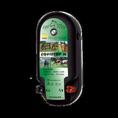 HORIZONT EQUISTOP M 0.8J Electric Fence Energiser Powered by Mains Fencer Plug
