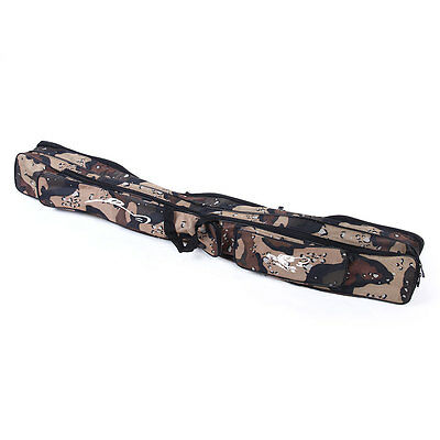 Rod Fishing Bag 4 Layer Case Carry Cover Storage Holder Organizer Tackle camo