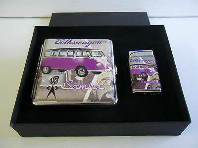Official VW Samba Camper Van Purple Cigarette Case & Cigarette Case Gift Boxed
