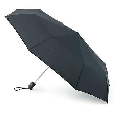 Black Fulton Auto Open & Close 3 Mens / Ladies Automatic Umbrella