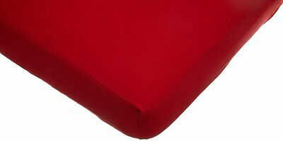 American Baby Company Supreme Jersey Knit Fitted Crib Sheet, Red