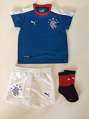 Infant Puma Rangers FC Baby 15/16 Home Kit with Socks - 12 Months - Royal - BNWT