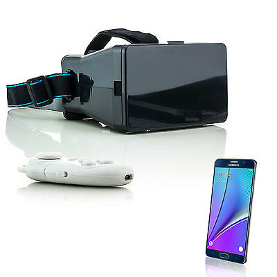 Virtual Reality 3D Brille VR für Samsung Galaxy Note 3 4 Grand Prime + Joystick
