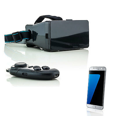 3D Brille VR Virtual Reality für Samsung Galaxy S7 Edge S6 S5 Neo mit Controller