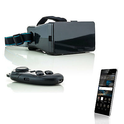 3D Brille VR Virtual Reality für Huawei P8 P9 Lite Y5 Y6 + Bluetooth Controller