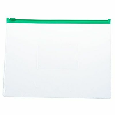 WD 20 Pcs Green Clear Size A5 Paper Slider Ziplock Closure Files Bags