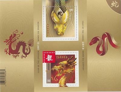 Canada 2013 Souvenir Sheet #2600a Year of the Snake (Transition) - MNH