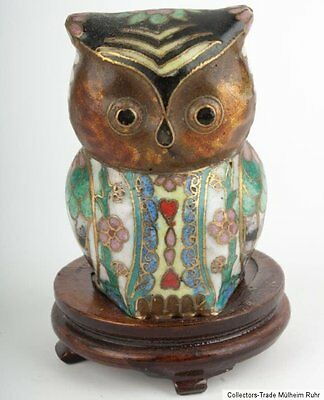 China 20. Jh. Eule - A Small Chinese Cloisonne Enamel Owl - Chinois Gufo Cinese