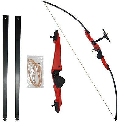 Archery Takedown Recurve Bow Alloy Handle Shooting Hunting Practice Longbow 30#