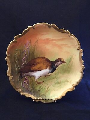 BEAUTIFUL VINTAGE LIMOGES Hand painted Coronet Game Bird Plate ...