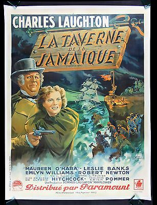 JAMAICA INN * CineMasterpieces FRANCE FRENCH MOVIE POSTER ALFRED HITCHCOCK 1939