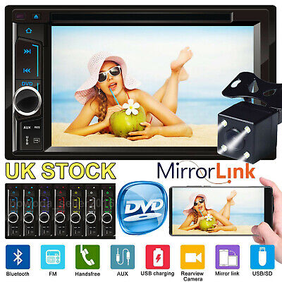 "Double DIN 6.2"" In dash Car Stereo Radio CD DVD Player FM/USB/SD Bluetooth MP3"