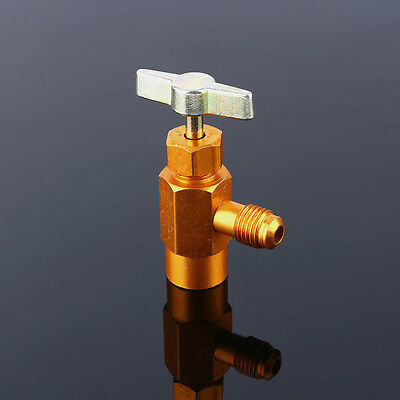 """For R134a Refrigerant Can Bottle Tap Tapper Opener Connector 1/4"""" SAE M14 Valve"""