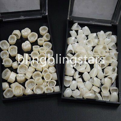 Dental Temporary Crowns Posteriors Molar Anteriors Front Polycarbonate Caps