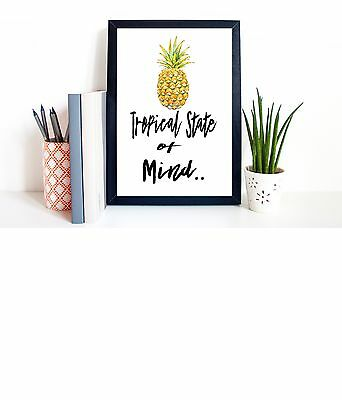 Typography A4 Poster Print on Paper Pineapple Quotes, Modern Art Home Decor