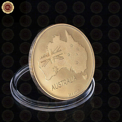 Australia Blue Mountains 24k Gold Plated Coin The Three Sister Souvenir Gift