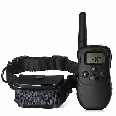 Waterproof Shock Electric Puppy Dog Training Collar Rechargeable Vibration
