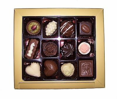 Assorted 12 Piece Gourmet Couverture Chocolate Gift Box - Wedding, For Her/Him