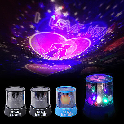 Romantic LED Starry Night Sky Projector Light Lamp Star Cosmos Master Kids Gift