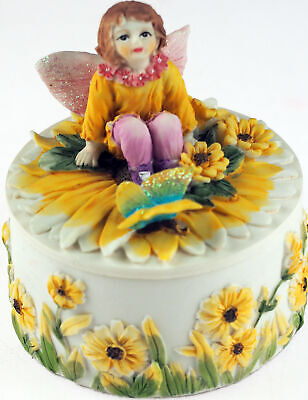 Sun Flower Fairy Girl Trinket / Jewellery Box