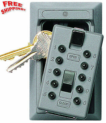 Lock Box Key Storage Safe Realtor Cabinet Wall Mount Real Estate Security New