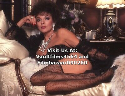 "JOAN COLLINS - 10"" x 8"" Colour Photographic Shoot For Adult Magazine 1983 #1944"