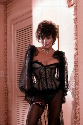 """JOAN COLLINS - 12"""" x 8"""" Colour Photographic Shoot For Adult Magazine 1983 #1941"""