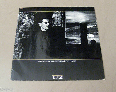 """U2 - Where The Streets Have No Name ISLAND 7"""" Single   Rare Red Label Issue !"""