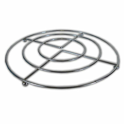2 Chrome Hot Pan Pot Stands - Stainless Steel Round Trivet Holder Kitchen New