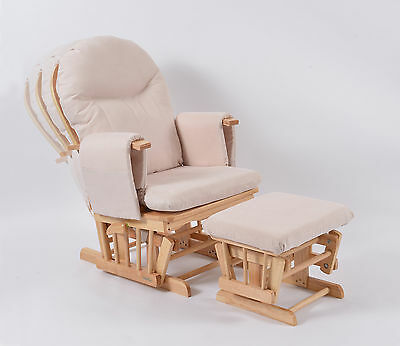 Habebe Recliner Rocking Glider Chair & Stool WASHABLE COVERS & BRAKE SALE£10 off