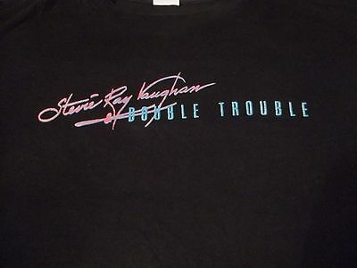 Very Rare STEVIE RAY VAUGHAN & DOUBLE TROUBLE Let The Good Times Roll XL T-SHIRT