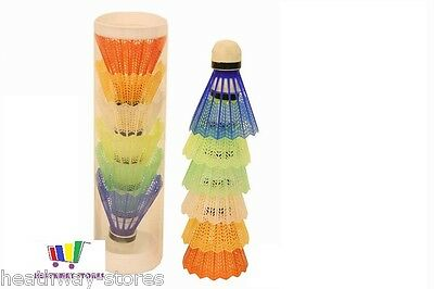 6 X Coloured Badminton Shuttlecocks Plastic Sport Fun Game Toy Kids Fun New Gift