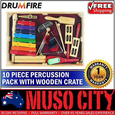 New Drumfire 10-Piece Educational Hand Percussion Pack