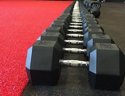 CFF Rubber Hex Dumbbell Pairs - Lifetime Warranty