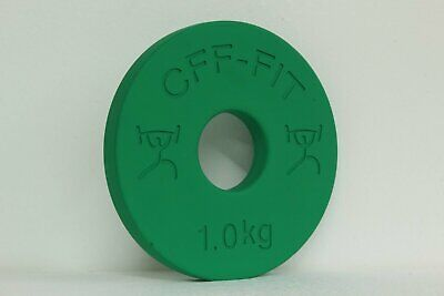 Cff Fractional Plate - Pair - 1 Kg (2Kg)  - Rubber Coated; Calibrated