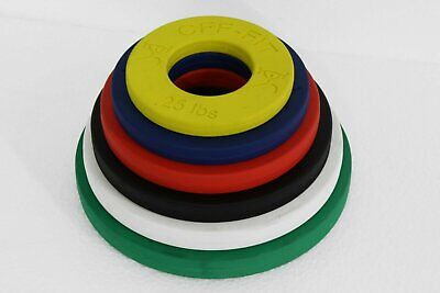 CFF Calibrated Fractional Rubber Olympic Weight Plates- 12.5 lbs set