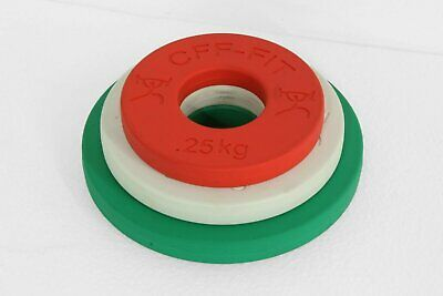 CFF Calibrated Fractional Rubber Olympic Weight Plates - 3.5 kg set