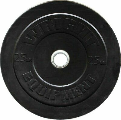 Wright Rubber Bumper Plates - 25 lbs - pair