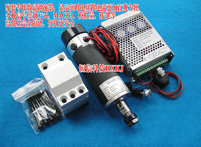 57mm 600W Air cooled Brushed Spindle Motor  + Mount Bracket + Speed controller