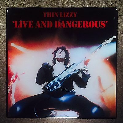 "THIN LIZZY ""Live And Dangerous"" Ceramic Tile Coaster Record Cover"