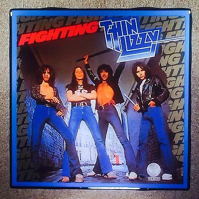 THIN LIZZY Fighting Ceramic Tile Coaster Record Cover