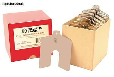 """Stainless Steel Slotted Shim Shop Kit Size A 2"""" x 2"""" (Pack of 80) Assortment Box"""