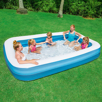 "NEW LARGE KIDS FAMILY INFLATABLE PADDLING GARDEN SWIMMING POOL (120""x72""x18"")"